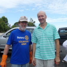 Graeme Davies and Paul Rickard from Turramurra Rotary Club
