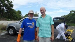 Graeme Davies and Paul Rickard from Turramurra Rotary Club